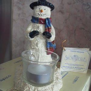 Snowsnickle Snowman Votive Candle Holder